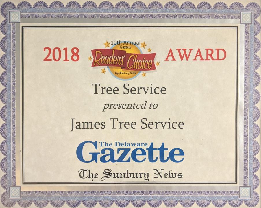 Voted 1 Tree Service In Gazette S 2018 Reader S Choice